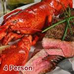 Live Lobster Surf N' Turf (4 Person)