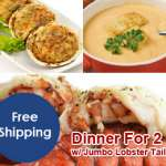 Dinner for 2 – Lobster Tails (With Lobster Bisque)