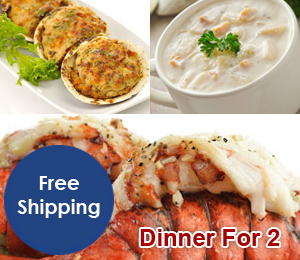 Dinner for 2 – Lobster Tails (With New England Clam Chowder)